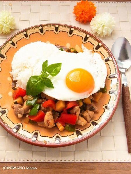 《 万能ニラだれ 》 ガパオライス(鶏肉のバジル炒めご飯)