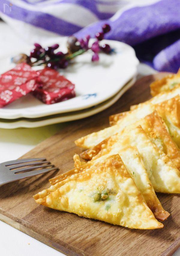 スパイシーパリパリ♡チーズ揚げ #おつまみ#食材2品