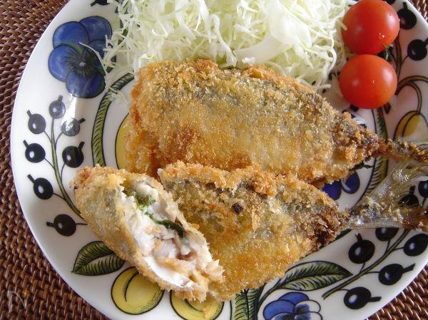 梅味噌のアジフライ。