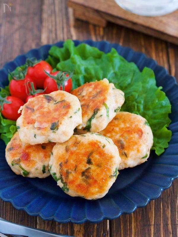 『ささ身の明太チーズ丸め焼き』【#作り置#お弁当】