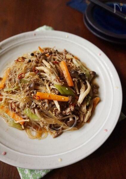 えのきと野菜のボリュームチャプチェ