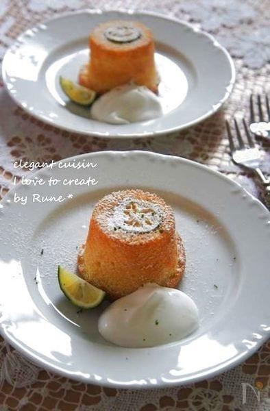 すだちサバラン風 シフォンケーキ