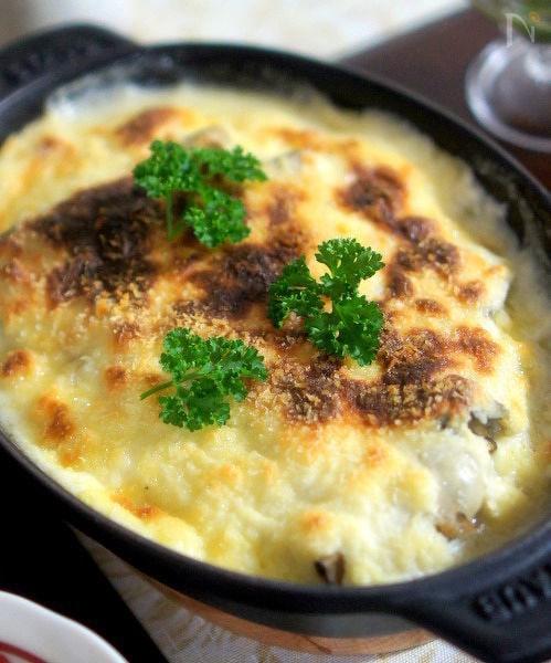 牡蠣と白菜のグラタン