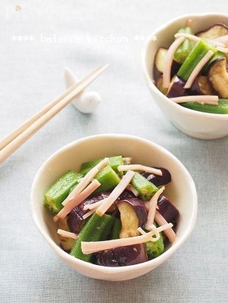 【作り置き】なすとオクラの中華風サラダ