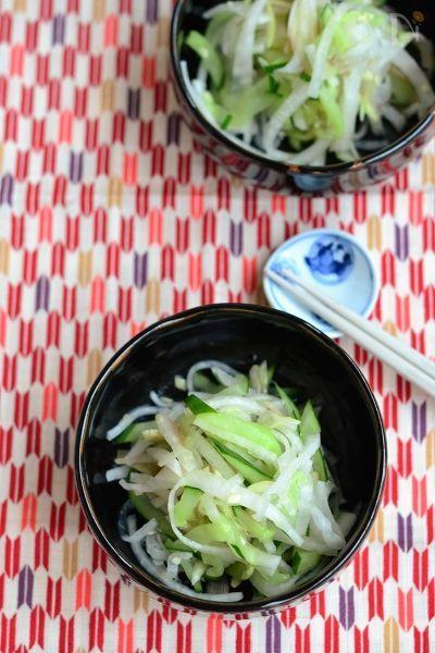 大根ときゅうりの薬味サラダ【作りおき】