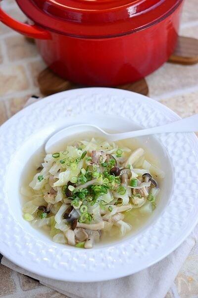 豚肉とキャベツの食べる昆布スープ