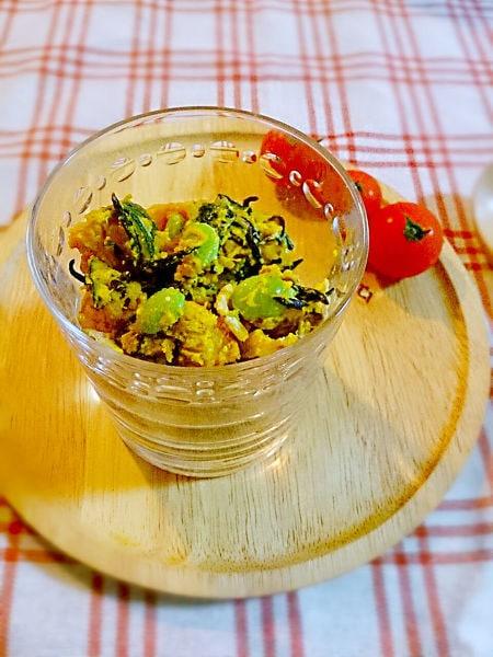 ビタミンたっぷり 枝豆とかぼちゃのサラダ