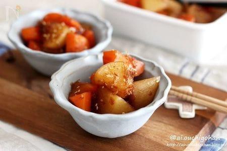 常備菜♡お弁当にもおすすめの*にんじんと大根の照り煮♡