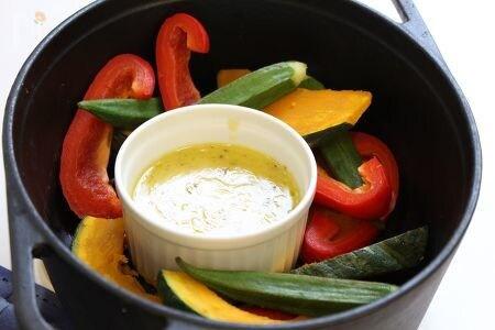 夏野菜のバーニャカウダ。