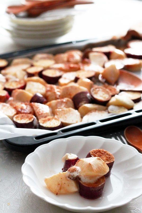 さつまいもと紅玉りんごのマシュマロオーブン焼き