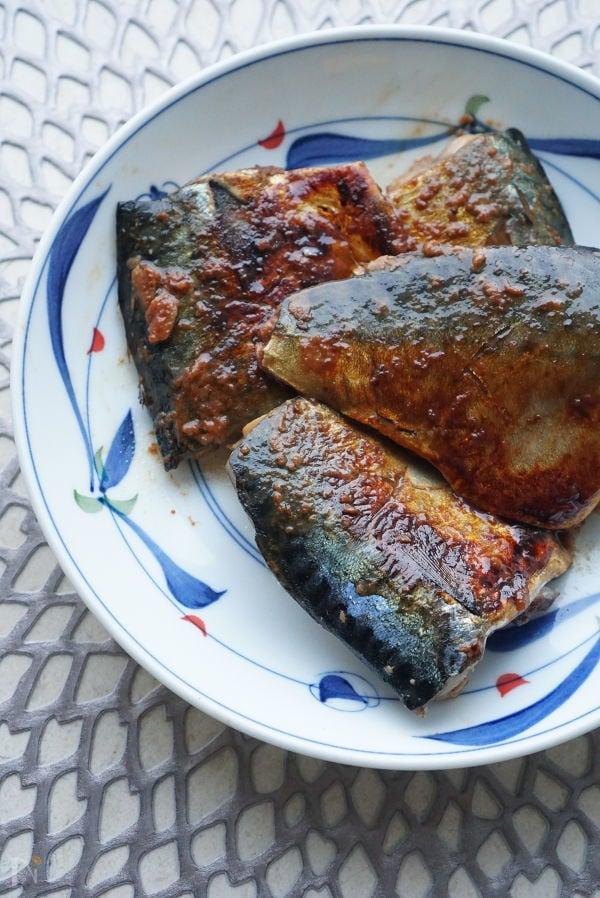 鯖のコチュジャン焼き