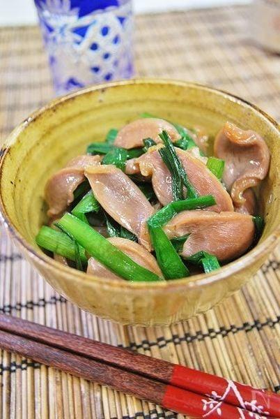 砂肝とニラのうま煮
