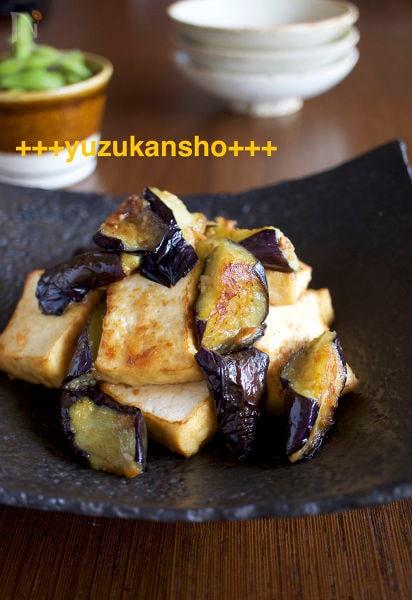 2.食べごたえあり!ナスと豆腐の味噌炒め