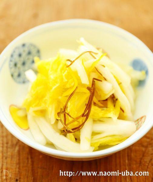 【切り方にポイント】白菜の柚子風味