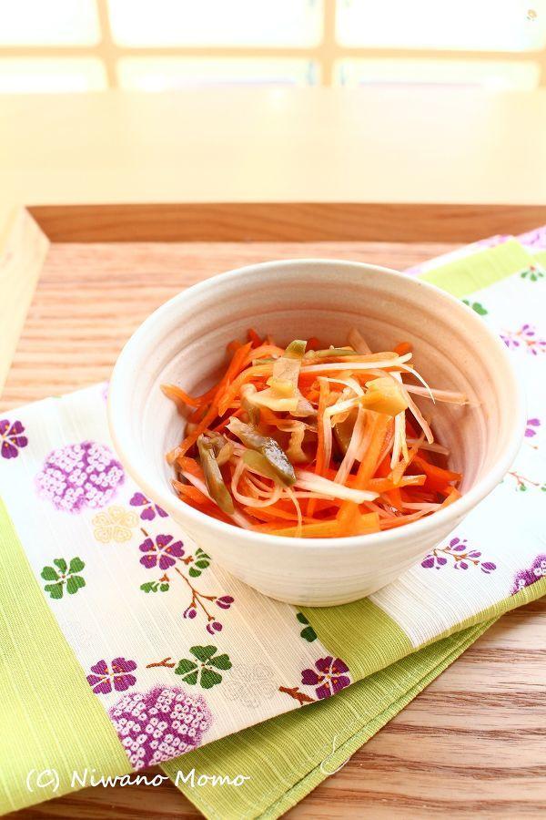 簡単5分副菜 * にんじんのザーサイ和え
