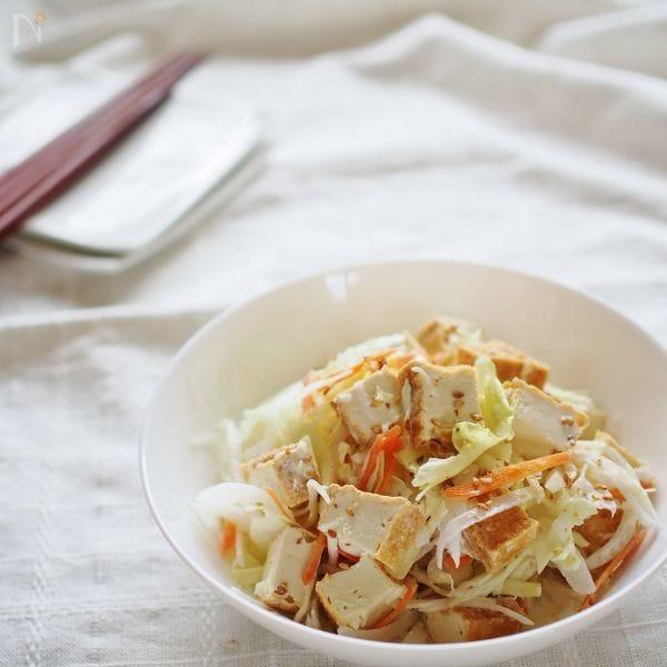 厚揚げのコールスローサラダ