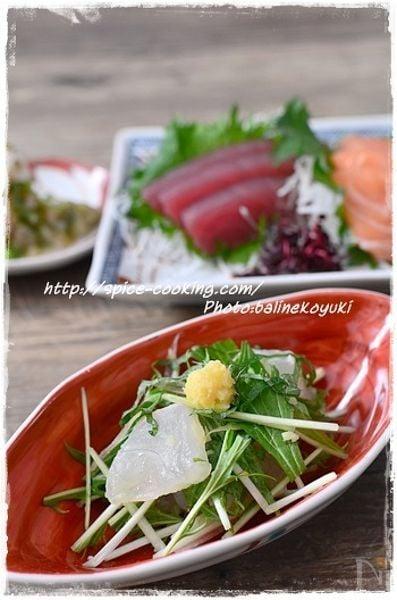 1. 鯛と三つ葉のレモン生姜和え