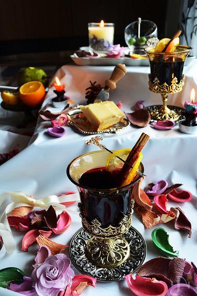 ジャムホッ!とワインシナモンと柑橘系フルーツの香りを添えて