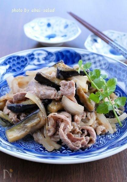 豚肉となすのトロトロ生姜焼き