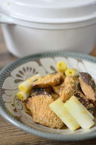 【バーミキュラ・レシピ】ぶりの胡麻味噌煮