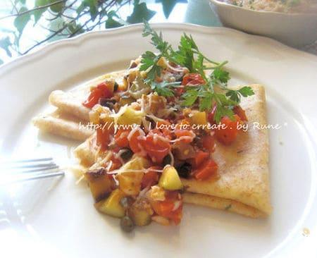 3 コロコロ野菜のクレープ