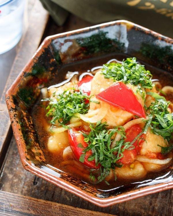 むね肉とトマトのポン酢南蛮【#作り置き #揚げない】