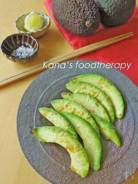 新定番。アボガドの焼き天ぷら&レモン塩