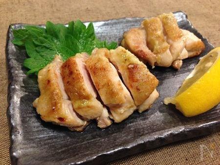 3. 鶏肉のわさび焼き