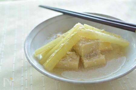 高野豆腐の酒粕煮