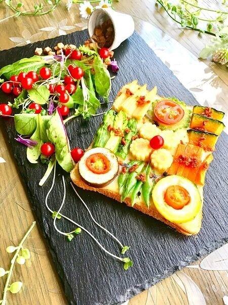 モザイク風チーズトースト
