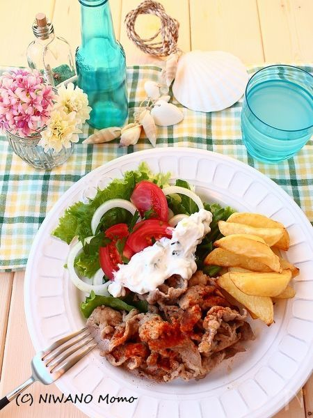 ギロス風 焼き肉 (ギリシャ風スパイシー焼き肉)