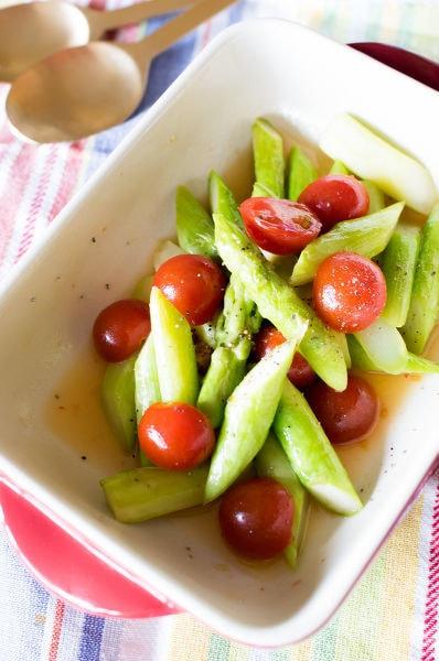 アスパラとミニトマトのアジア風サラダ
