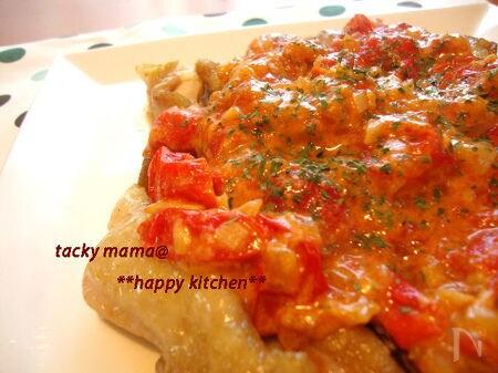 トマト&チーズ好きさんへ♪チキン@プチトマトとチーズの旨々ソ