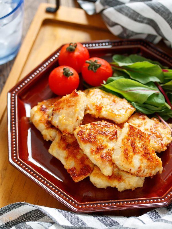 むね肉の味噌マヨ漬け【#下味冷凍#揉んで焼くだけ#お弁当】