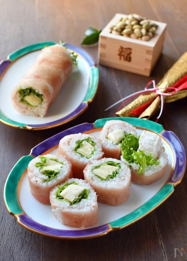 カマンベールチーズ入り♡生ハム恵方巻