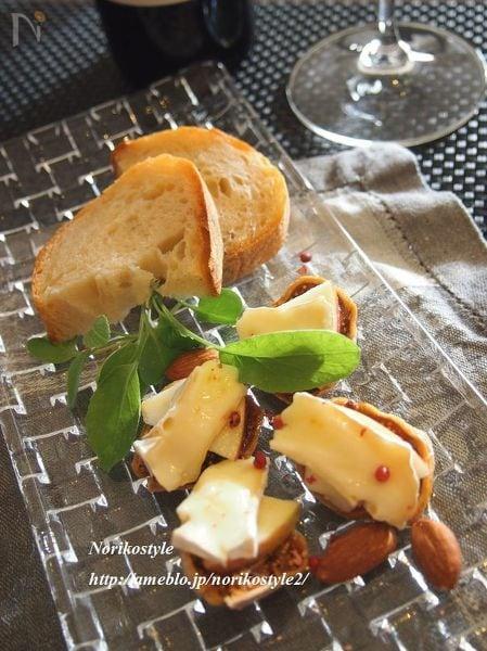 リンゴとチーズのいちじくカナッペ