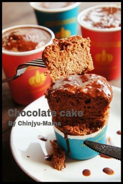 ダブルチョコカップケーキ