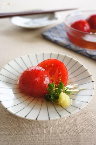 トマトの冷たいだしびたし