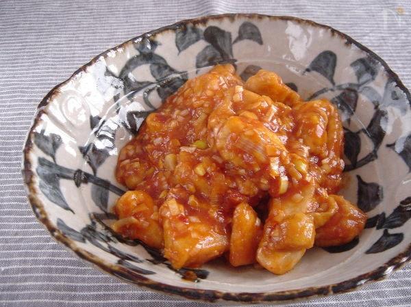 鶏胸肉のチリソース。