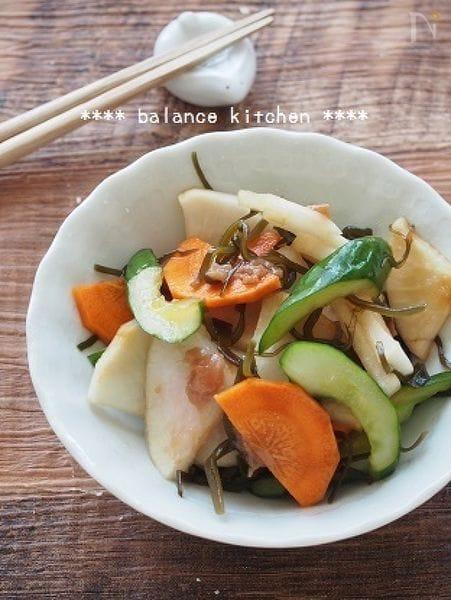 【常備菜】野菜の梅昆布漬け