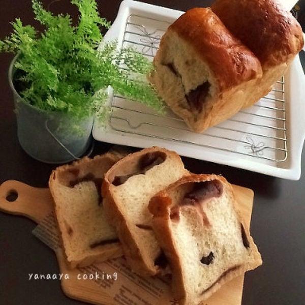きな粉入り山型あんこ食パン