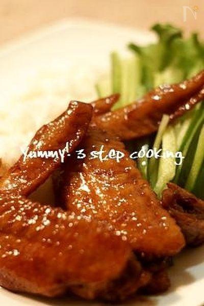 中まで味の染み込んだフィリピンのお酢煮、手羽先のアドボ