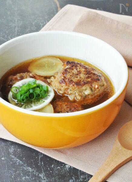 根菜つくねのぽかぽか生姜スープ