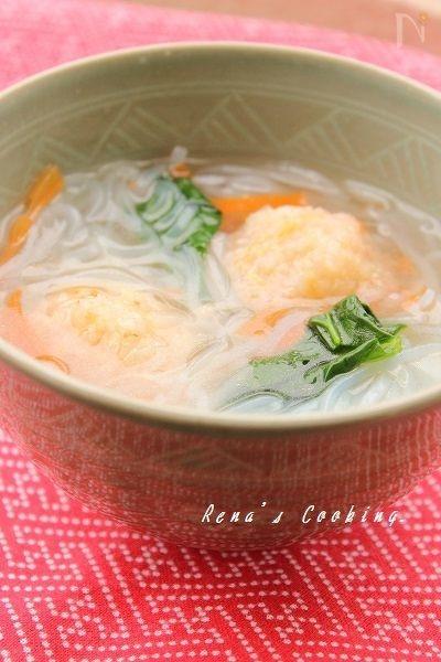 4. ふわっと海老団子の生姜スープ