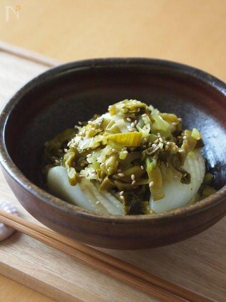 3.いかと高菜の炒め物