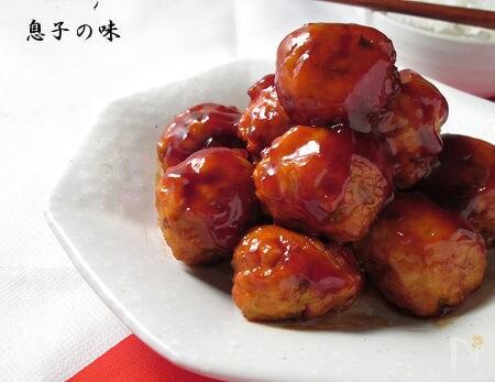 1. 鶏団子の甘酢あんかけ