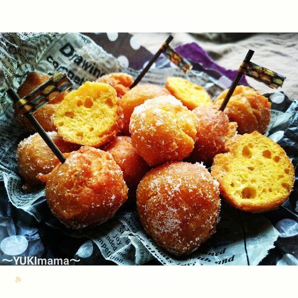 ハロウィンにも〜かぼちゃのまん丸ドーナツ〜