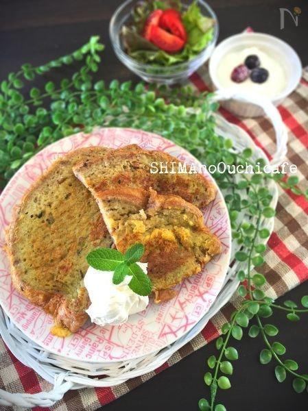 味付き豆乳で簡単朝ご飯♪焼き芋フレーバーのフレンチトースト