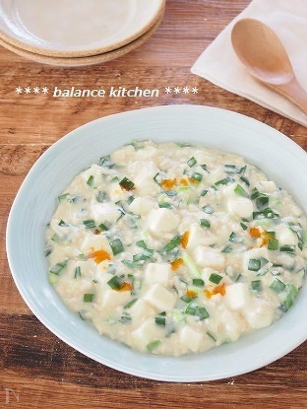 【時短】豆乳でまろやか。にらたっぷり白い麻婆豆腐。