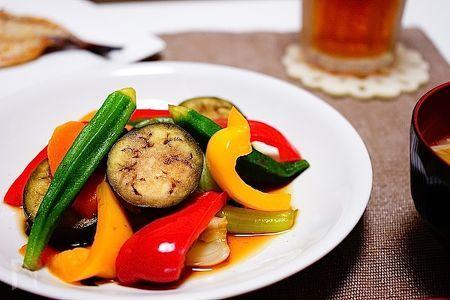夏野菜たっぷり☆簡単焼き浸し